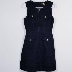 Tahari cotton black sleeveless sheath dress!